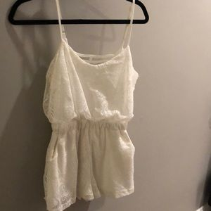 White lace romper only worn once!